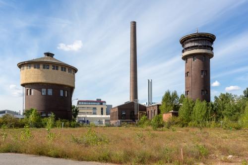 Wasser- und Rundturm, Schornstein Gaswerk Ost