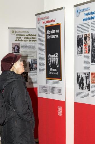 Ausstellung Geschichte der Berufsverbote