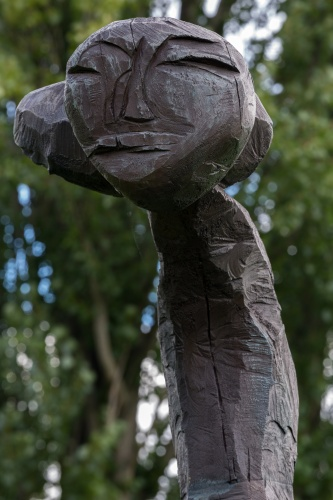 Dietrich Klinge, Entwurf fuer eine grosse Figur VI, Detail Kopr