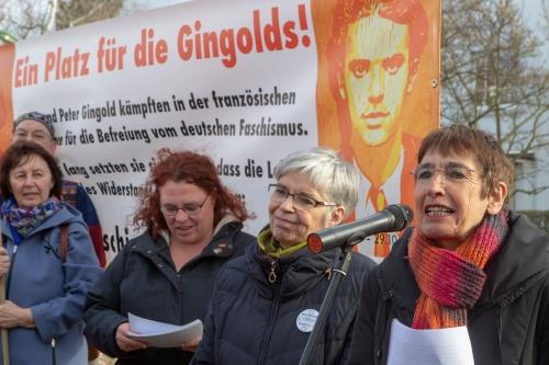 Alice Czyborra geb. Gingold und Silvia Gingold berichter ueber ihre Kindheit in Niederrad