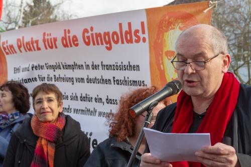 Mathias Meyers, verliest Grussbotschaft von Esther Bejarano