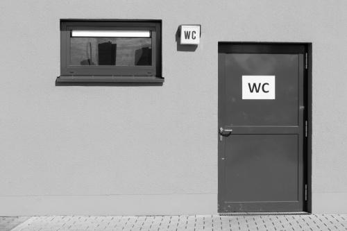 WC mit Blick zum Berger Hang