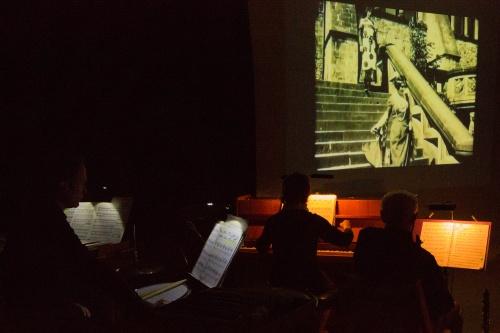 Schlagzeug, Klavier, Klarinette, Film