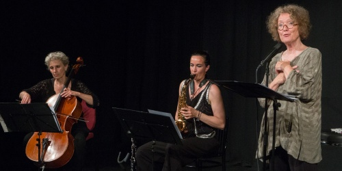 Anka Hirsch, Cello-Julia Ballin, Saxophon-Ursula Illert, Rezitation-2
