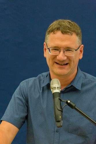 Dr. Juergen Eichenauer waehrend der Begruessung