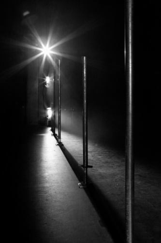 Beleuchtete Grenze