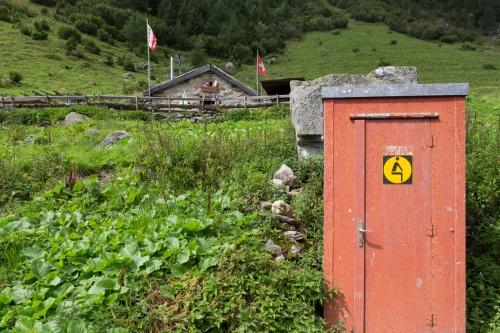Piktogramm im Gebirge
