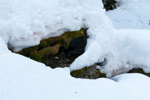 Formen im Schnee