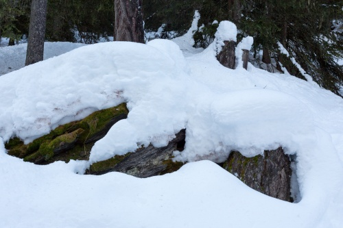 Formen im Schnee_