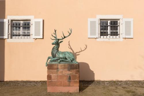 Hirsch vorm Jagdschloss