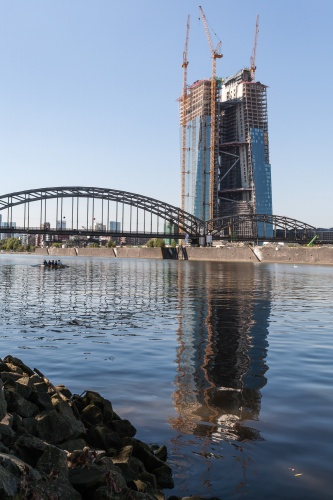 Deutschherrenbruecke mit EZB-Baustelle
