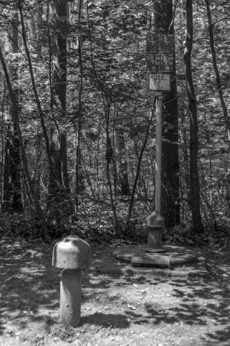 Wasserpumpen im Wald