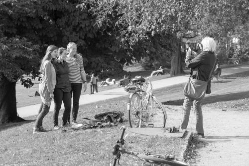 Drei beim spontnen Shooting