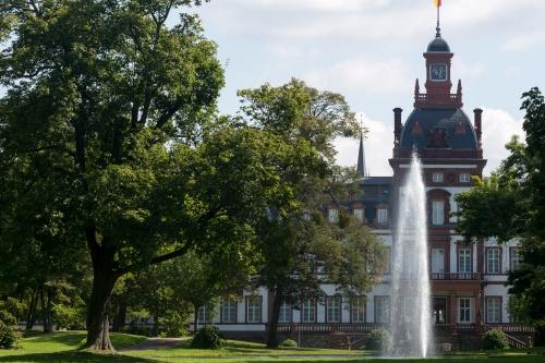 Park, Fontaene, Schloss