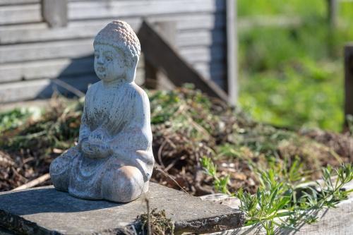 Buddha fuer guten Kompost