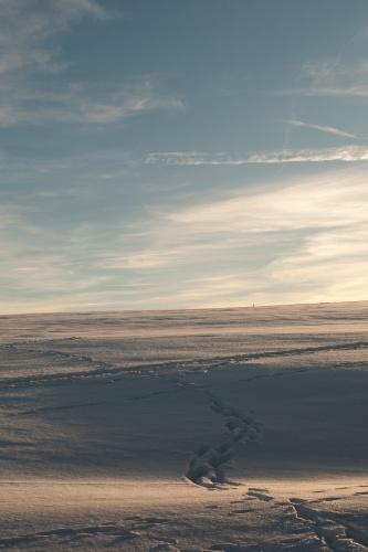 Spuren und Himmel