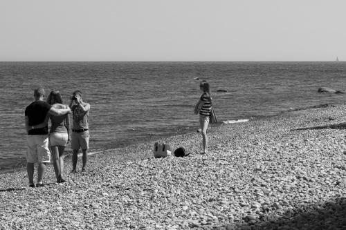 3 zu 1 am Strand