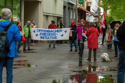 Aufstellung vor dem Gewerkschaftshaus