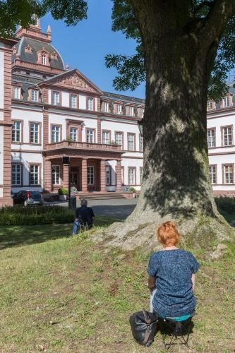 Zeichnen am Schloss Philippsruhe