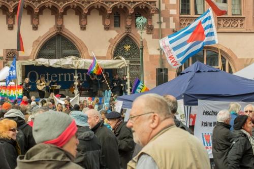 Kundgebung auf dem Frankfurter Roemer